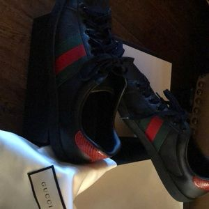 Gucci Ace Leather Sneakers Size 10.5